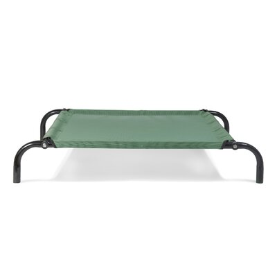 Elevated Reinforced Dog Cot Size: Large (36.25 W x 52 D x 7.5 H), Color: Forest