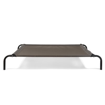Elevated Reinforced Dog Cot Size: Large (36.25 W x 52 D x 7.5 H), Color: Espresso