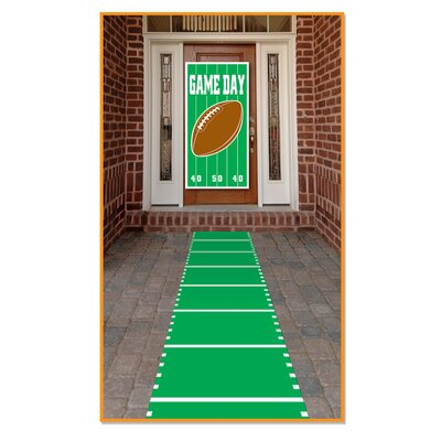 Frese Sports Field Indoor/Outdoor Green Area Rug