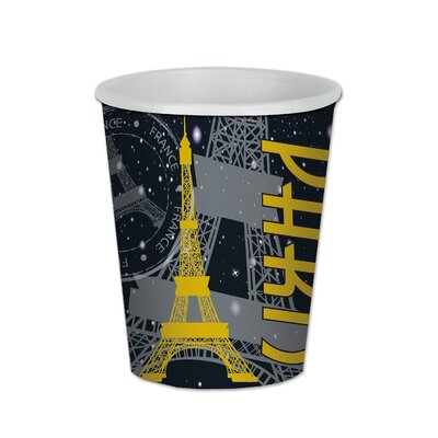Paris 9 oz. Paper Beverage Cup (Set of 12) 58220