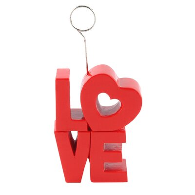 Fulmer Red Love Photo Holder Picture Frame (Set of 6) E7FB21CDB0494D08938F17F77C39BBE6