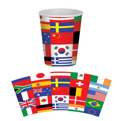 International Flag 9 oz. Paper Beverage Cup (Set of 3) 58222