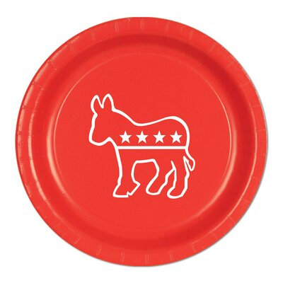 Democratic Paper Plate (Set of 3) 58028-R