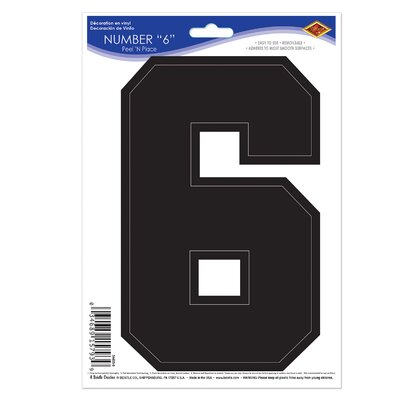 Marcantonio Peel 'N Place Window Sticker Number: 6 725223D844E04BB5B20FB86F75A4CBBB