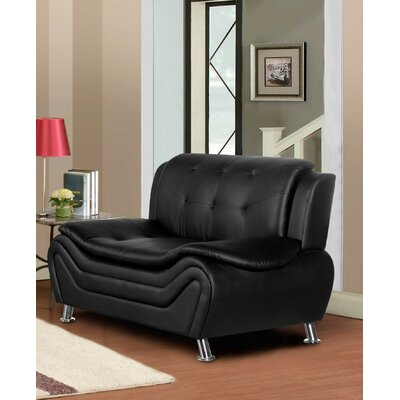 Sifford Loveseat Upholstery: Black