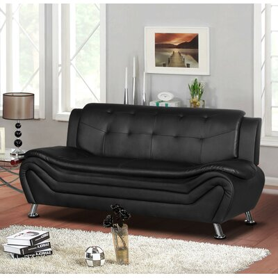 Sifford Sofa Upholstery: Black