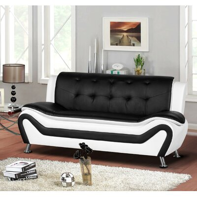 Sifford Sofa Upholstery: Black/White