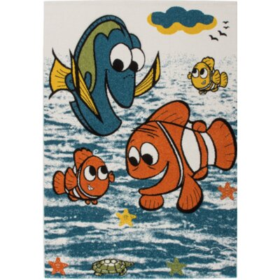 Howton Kids Finding Nemo Fish Blue/Orange Area Rug Rug Size: Rectangle 53 x 75