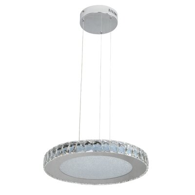 Miyashiro 1-Light LED Crystal Pendant Size: 64.25 H x 17 W x 17 D