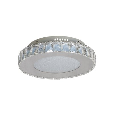 Mixson 1-Light LED Flush Mount Size: 3.5 H x 13 W x 13 D