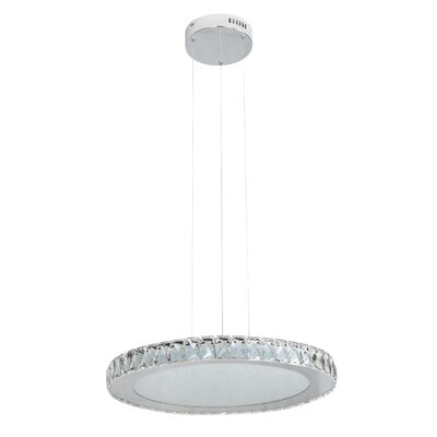 Miyashiro 1-Light LED Crystal Pendant Size: 64.25 H x 20.4 W x 20.4 D