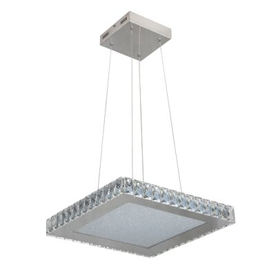 Mizell 1-Light LED Crystal Pendant Size: 64.25 H x 17 W x 17 D