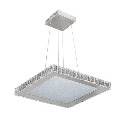 Mizell 1-Light LED Crystal Pendant Size: 64.25 H x 20.4 W x 20.4 D