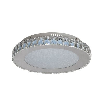 Mixson 1-Light LED Flush Mount Size: 3.5 H x 17 W x 17 D
