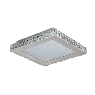 Miyamoto 1-Light LED Flush Mount Size: 3.5 H x 17 W x 17 D