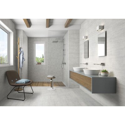 Atrium Moon 12 x 24 Porcelain Field Tile in Perla Gray