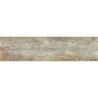 Antique Oxide 6 x 24 Porcelain Wood Look Tile in Gray