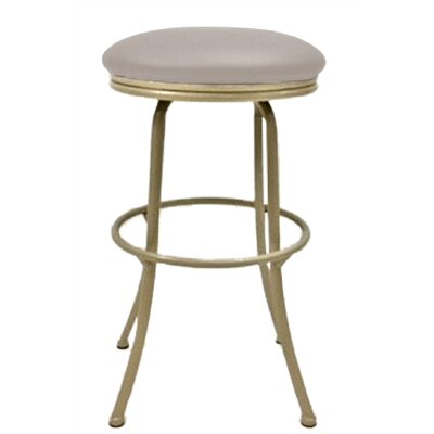 Podington 33 Swivel Bar Stool Frame Color: Beige, Seat Color: Ocean Beige