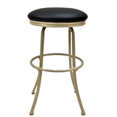 Podington 33 Swivel Bar Stool Frame Color: Beige, Seat Color: Ebony