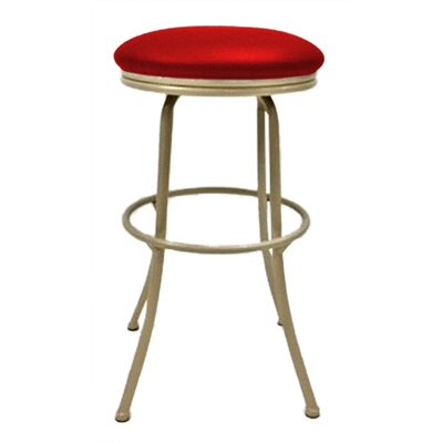 Podington 35 Swivel Bar Stool Upholstery: Fire Red