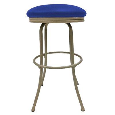 Podington 35 Swivel Bar Stool Upholstery: Blue