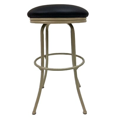 Podington 26 Swivel Bar Stool Frame Color: Beige, Seat Color: Ebony