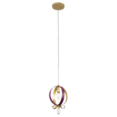 Posh 1-Light Mini Pendant Finish: Plum/Gold Leaf
