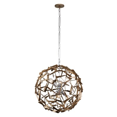 Bermuda 6-Light Globe Pendant Finish: Silver/Champagne Mist