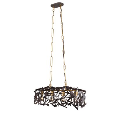 Bermuda 4-Light Kitchen Island Pendant Finish: Antique Gold/Rustic Bronze