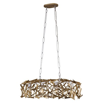 Bermuda 4-Light Kitchen Island Pendant Finish: Silver/Champagne Mist