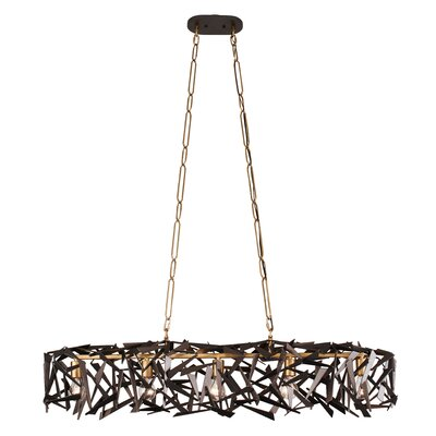 Bermuda 5-Light Kitchen Island Pendant Finish: Antique Gold/Rustic Bronze