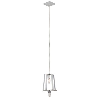Posh 1-Light Mini Pendant Finish: Pearl/Silver Leaf