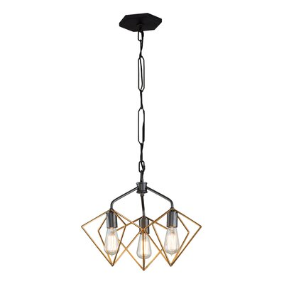 Metropolis 3-Light Geometric Pendant