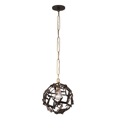 Bermuda 1-Light Globe Pendant Finish: Antique Gold/Rustic Bronze