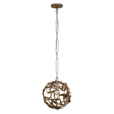 Bermuda 1-Light Globe Pendant Finish: Silver/Champagne Mist