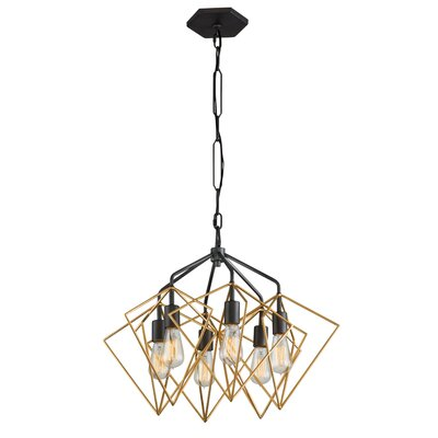 Metropolis 6-Light Geometric Pendant