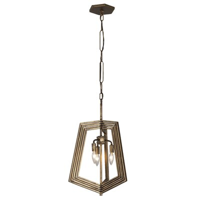Gymnast 3-Light Foyer Pendant Finish: Havana Gold