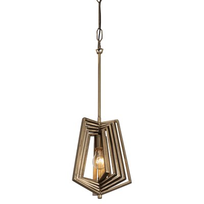 Gymnast 1-Light Foyer Pendant Finish: Havana Gold
