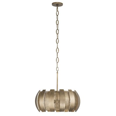 Sawyers Bar 3-Light Drum Pendant Finish: Havana Gold