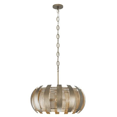 Sawyers Bar 4-Light Drum Pendant Finish: Havana Gold