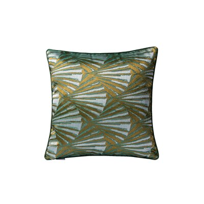 Deco Fan Square Throw Pillow