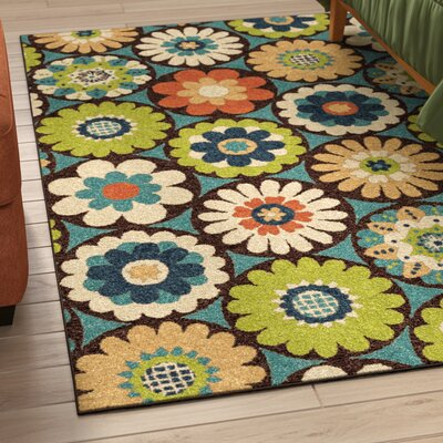 Ginther Green Indoor/Outdoor Area Rug Rug Size: Rectangle 52 x 76