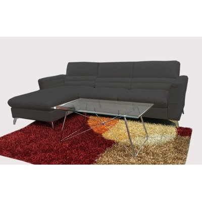 Wendling Sectional Upholstery: Black, Orientation: Left
