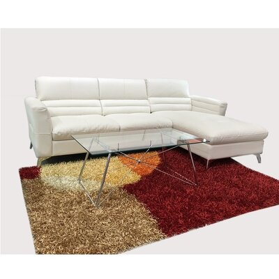 Wendling Sectional Upholstery: Light Beige, Orientation: Right
