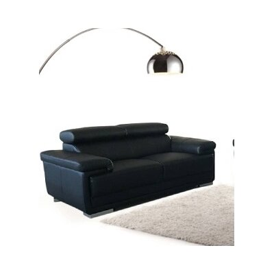 Dutchess Modern Loveseat Upholstery: Black