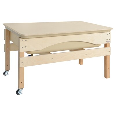 """Absolute Sand and Water Table Finish: Natural Birch, Size: 27"""" H x 41"""" W X 17"""" D, Covery: No 11825TN"""