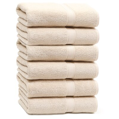 Toscano Terry 100% Cotton Bath Towel Color: Beige