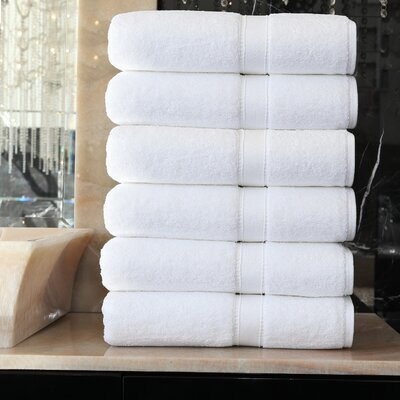 Toscano Terry 100% Cotton Bath Towel Color: White