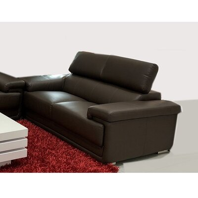 Dutchess Modern Loveseat Upholstery: Dark Brown