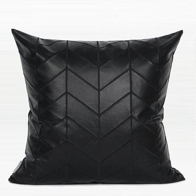 Hellman Chevron Pattern Pillow Fill Material: Polyester/Polyfill, Product Type: Throw Pillow